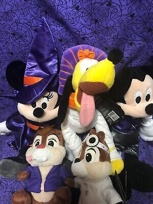 Disney Parks Mickey & Minnie Mouse And Friends Plush Halloween 2019 Set