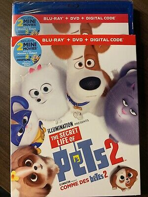 The Secret Life Of Pets 2 Blu-Ray & DVD w Slipcover Canada Bilingual NO DC LOOK