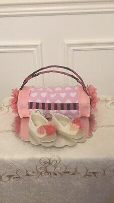 Purse baby shower diaper cakes
