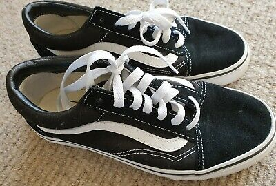 Vans Black Shoes Size 38.