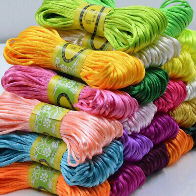 10M Nylon Braided DIY Shamballa Kumihimo Macrame Thread Satin Cord Rope Sting