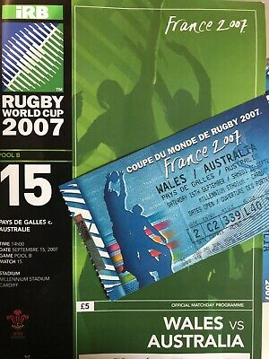 Wales v Australia 2007 Rugby World Cup Programme