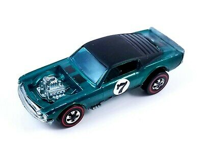 Hot Wheels - Boss Hoss - 1971 - Redline - The Spoilers - Rare aqua w/ black roof