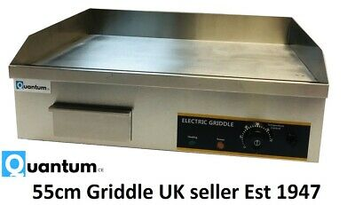 55cm Electric Table Top Griddle 3kW Commercial Catering