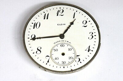 Elgin 15 jewels pocket watch movement for parts/hobby/watchmaker - 140915