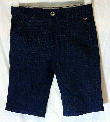 Boys Jasper Conran Blue Spotted Chino Denim Adjustable Waist Shorts Age 11 Years