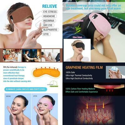 ARRIS Electric USB Heated Eye Mask, Blepharitis Treatment Masks W/ Brown