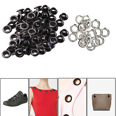 6mm Eyelets Grommets with Washers Matt Black Leather Craft Banners Belts Canvas