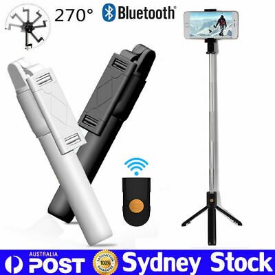 Unipod Selfie Stick Handheld Tripod Bluetooth Shutter For iPhone XS Samsung S10+
