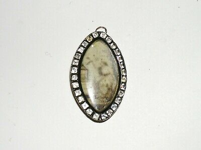 Brosche Victorian  Brooch Pendant  old Painting on Ivory Biedermeier