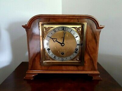 A fine quality twin 1/4 chiming mantel clock by makers Elliott of London