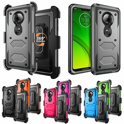 For Motorola Moto G7/Plus/Power/Supra/Play Case Cover With Belt Clip Kickstand