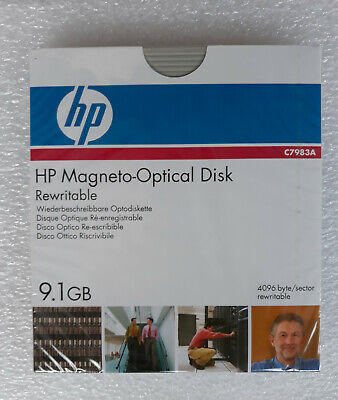 Hp C7983A 9.1Gb Rewritable Magneto Optical Mo Disk Rw Same As Sony Edm9100C New