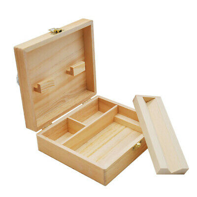 Wood Stash Box With Rolling Tray Large And Perfect To Organize Your Accessories