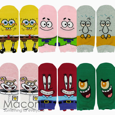 Ankle Socks Spongebob Squarepants Patrick Mr Krabs Plankton Squidward Funny