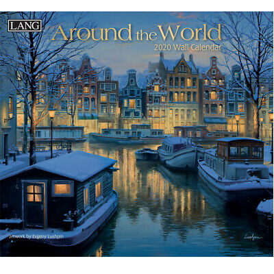 2020 Lang Calendar AROUND THE WORLD by Evgeny Lushpin New Calender Fits Wall ...