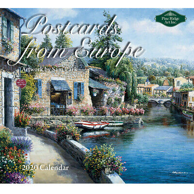 2020 PineRidge Calendar POSTCARDS FROM EUROPE New Calender Fits Wall Frame