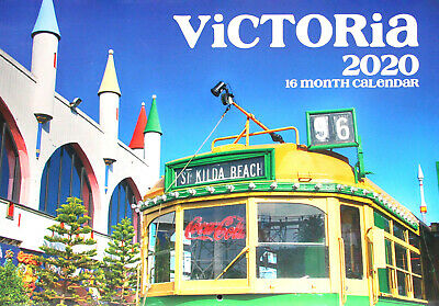 Victoria - 2020 Rectangle Wall Calendar 16 Months New Year Christmas Decor Gift