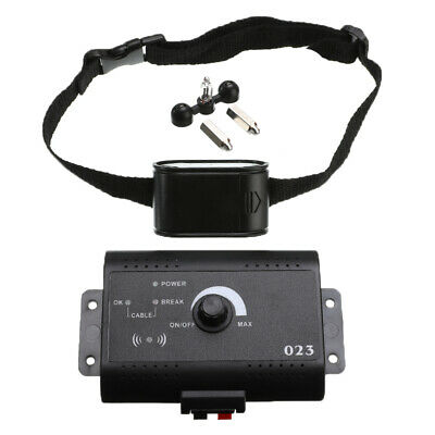 Wireless Electric Dog Pet Fence Containment System Training Transmitter Collar