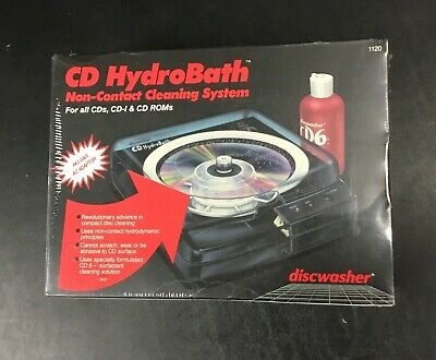 CD HydroBath Model 1120 Non-contact Cleaning System Discwasher Recoton New Box