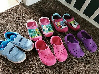 Girls crocs and Nike trainers shoes Size 10/10.5/11