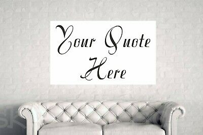 Personalised Quote printed Canvas Framed Text image wall art decor Custom made