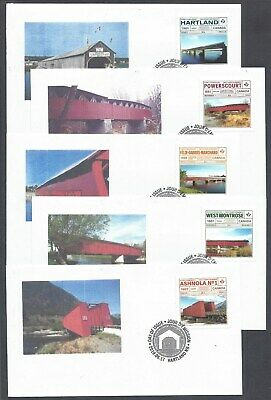 2019 Historic Covered Bridges Limited FDCs with BK stamps + Bonus