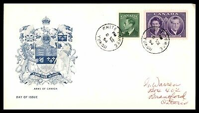 MayfairStamps CANADA FDC 1954 WHITE HORSE YUKON ARMS OF CANADA FIRST DAY COVER w