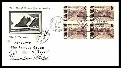 MayfairStamps CANADA FDC 1967 FAMOUS GROUP OF SEVEN 8c BLOCK FIRST DAY COVER wwb