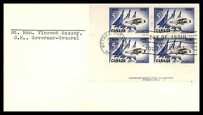 MayfairStamps CANADA FDC 1959 AVIATION CORNER BLOCK FIRST DAY COVER wwb51531