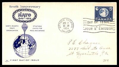 MayfairStamps CANADA FDC 1959 NATO ROSECRAFT FIRST DAY COVER wwb51529