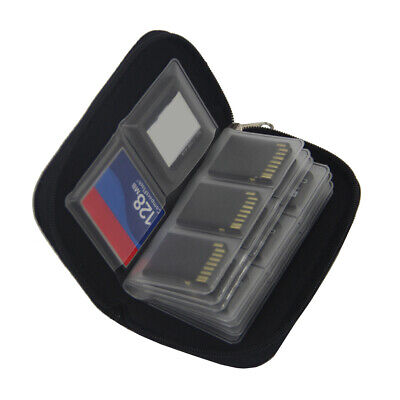 22Slots SD MicroSD Memory Card Case Holder Dirt Shockproof Hard Storage Wallet