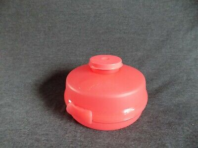 Tupperware Pink Bagel Sandwich Keeper Holder #4440 Pink Smidget Container #4453
