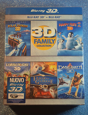 Polar Express 3D/Happy Feet 2/Legend of the Guardians 5 Film 3D Box Set Import