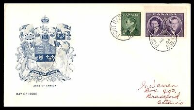 MayfairStamps CANADA FDC 1954 PORT RADIUM NWT ARMS OF CANADA FDC FIRST DAY COVER