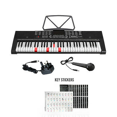 61 Keys Lighted Keyboard Electronic Digital Piano Music Instrument & Microphone