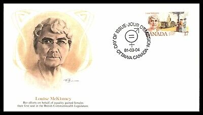 Mayfairstamps 1981 Canada FDC Louise McKinney First Day Cover wwb65757