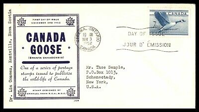 Mayfairstamps 1952 Canada FDC JCR Canada Goose First Day Cover wwb66345