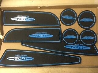 Mini Jcw (R56) 2006 - 2013) Interior Dashboard Gate Pad Mats - Blue Only