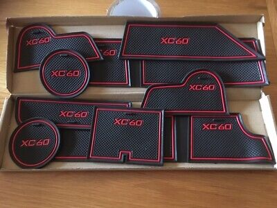 Volvo Xc60 (2008 - 2013)  Interior Dashboard Gate Pad Mats - Red Only