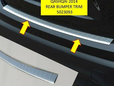 Qashqai 2014 - 2017  Rear Bumper Trim Stainless Steel Brushed Finish - 5023093T