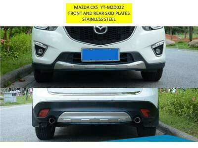 Mazda Cx-5 2013 - 2016 Front And Rear Skid Plates - Stainless Steel Mzd022