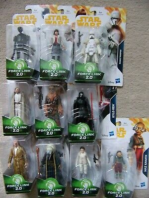 Star Wars 10 x Action Figures Force Link 2 Snoke Luke Moloch Kylo Maz Leia Chewy