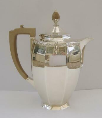 A Sterling Silver Coffee Pot London 1938 Goldsmiths & Silversmiths Co 582 Grams