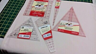 Sew easy templates / rulers x 5 items
