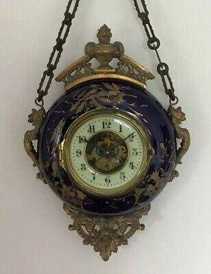 Eugene Farcot French Porcelain Wall Clock