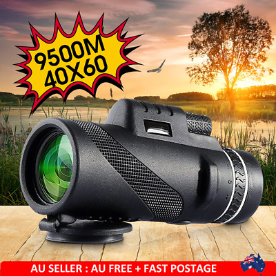 AU 40x60 Telescope Day & Night Vision Optical Monocular Hunting Camping