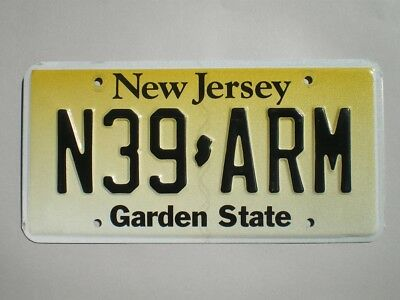 Authentic 1993 New Jersey License Plate