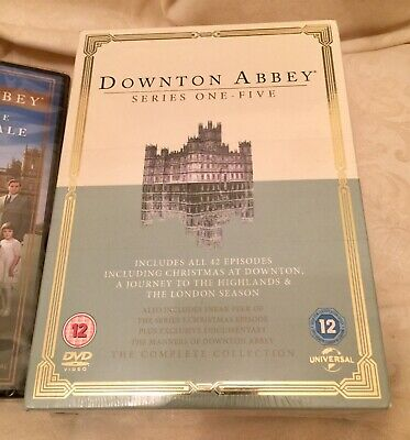downton abbey complete box set Séries 1 - 5 Plus Finale All Brand New Sealed