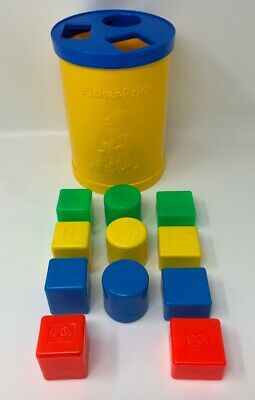 Fisher Price Shape Sorter #414 Toddler Toy With 11 Pieces Vintage 1977 19-2297